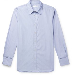 The Row - Keith Striped Cotton Shirt - Men - Blue