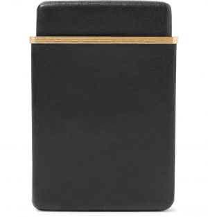 The Row - Leather and Gold-Tone Cardholder - Men - Black