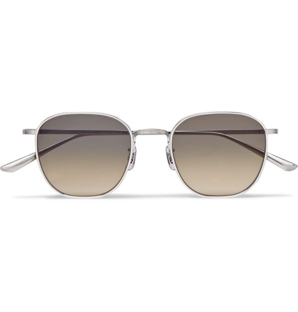 The Row - Oliver Peoples Board Meeting 2 Square-Frame Titanium Mirrored Sunglasses - Men - Silver