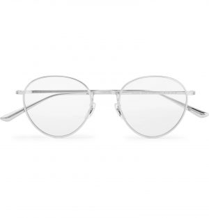 The Row - Oliver Peoples Brownstone 2 Round-Frame Titanium Optical Glasses - Men - Silver