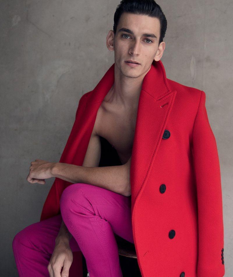 Thibaud Charon Models Berluti in Fashion for Men