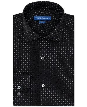 Vince Camuto Men's Slim-Fit Performance Stretch Black Tear Print Dress Shirt