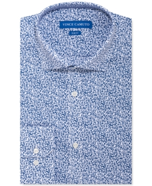 Vince Camuto Men's Slim-Fit Performance Stretch Floral-Print Dress Shirt