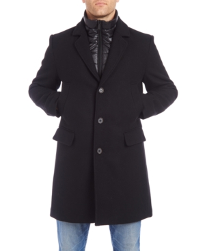 Vince Camuto Men's Walker Wool Blend Jacket with Quilted Bib