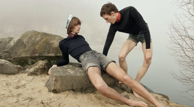 Sur Le Sable: Daan & Thomas for Vogue Hommes Paris