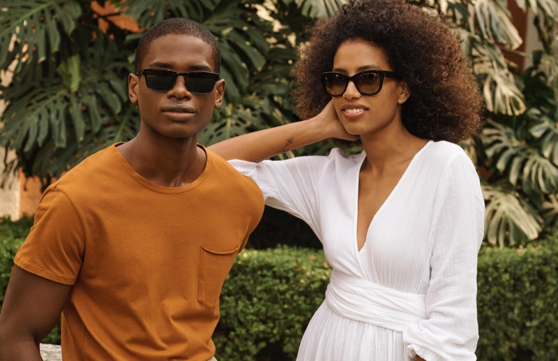 Classic but glamorous frame shapes shine with Warby Parker's Perkins (pictured left) and Gemma (pictured right) sunglasses.