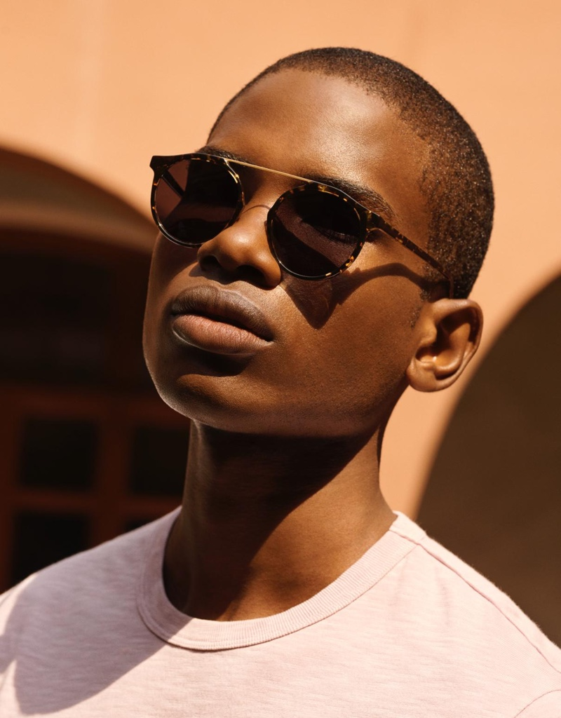 Warby Parker aids a stylish spring day with its Cooper sunglasses for men.