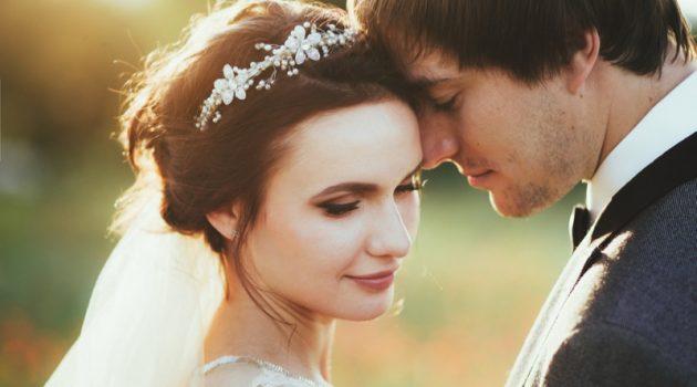 Wedding Bridal Beauty Groom Makeup Closeup