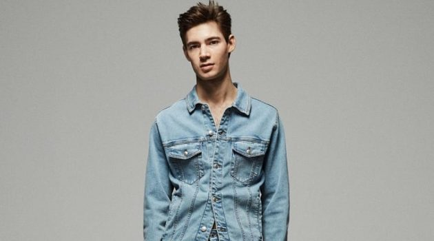 Adam Osborne sports Zara's Essential denim jeans.