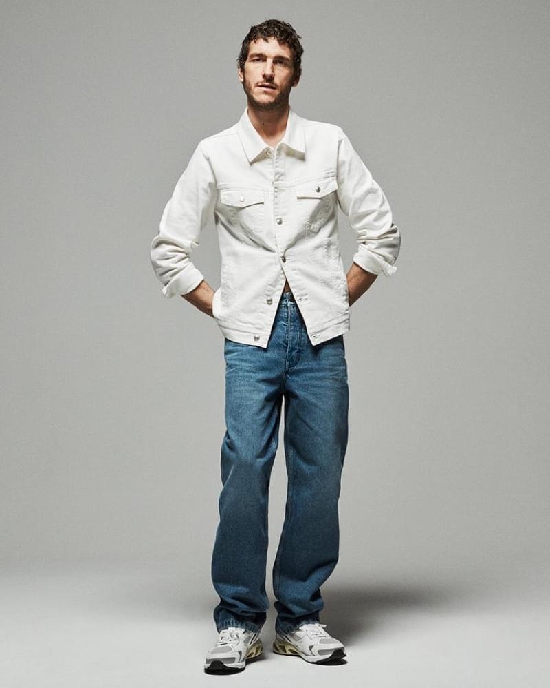 Frederick models Zara's New Relaxed denim jeans.