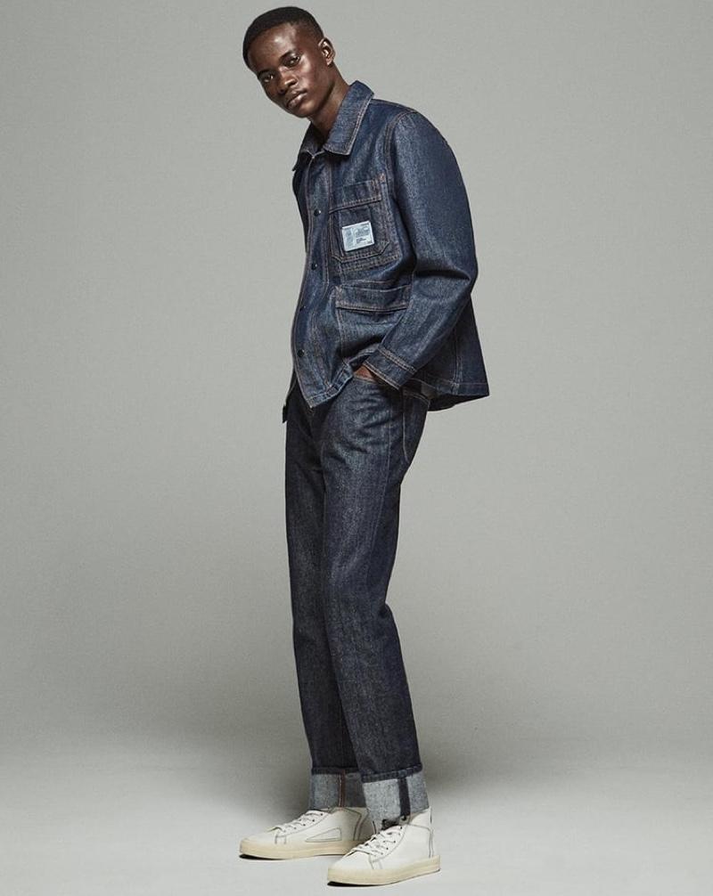 Serigne Lam models Zara's Carrot jeans.