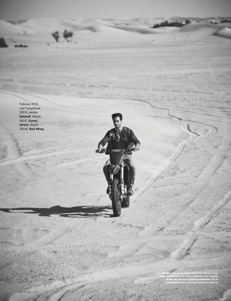 Easy Rider: Aleksandar for GQ Germany