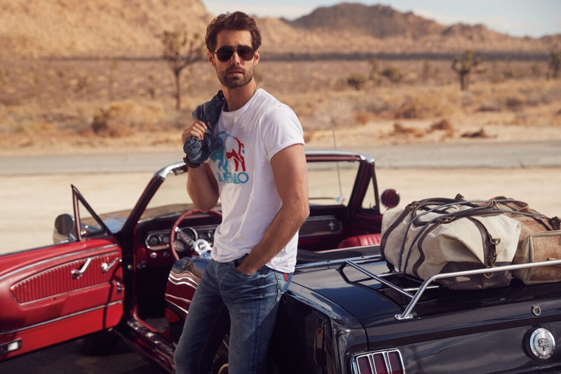 Vincent Embraces a Timeless Cool in Buffalo David Bitton Spring '20 Campaign