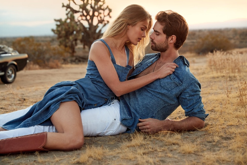 Rozanne Verduin and Vincent von Thien couple up for Buffalo David Bitton's spring-summer 2020 campaign.