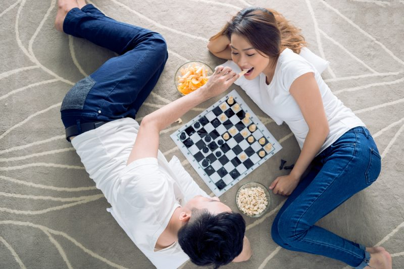 Couple Playing Boardgames