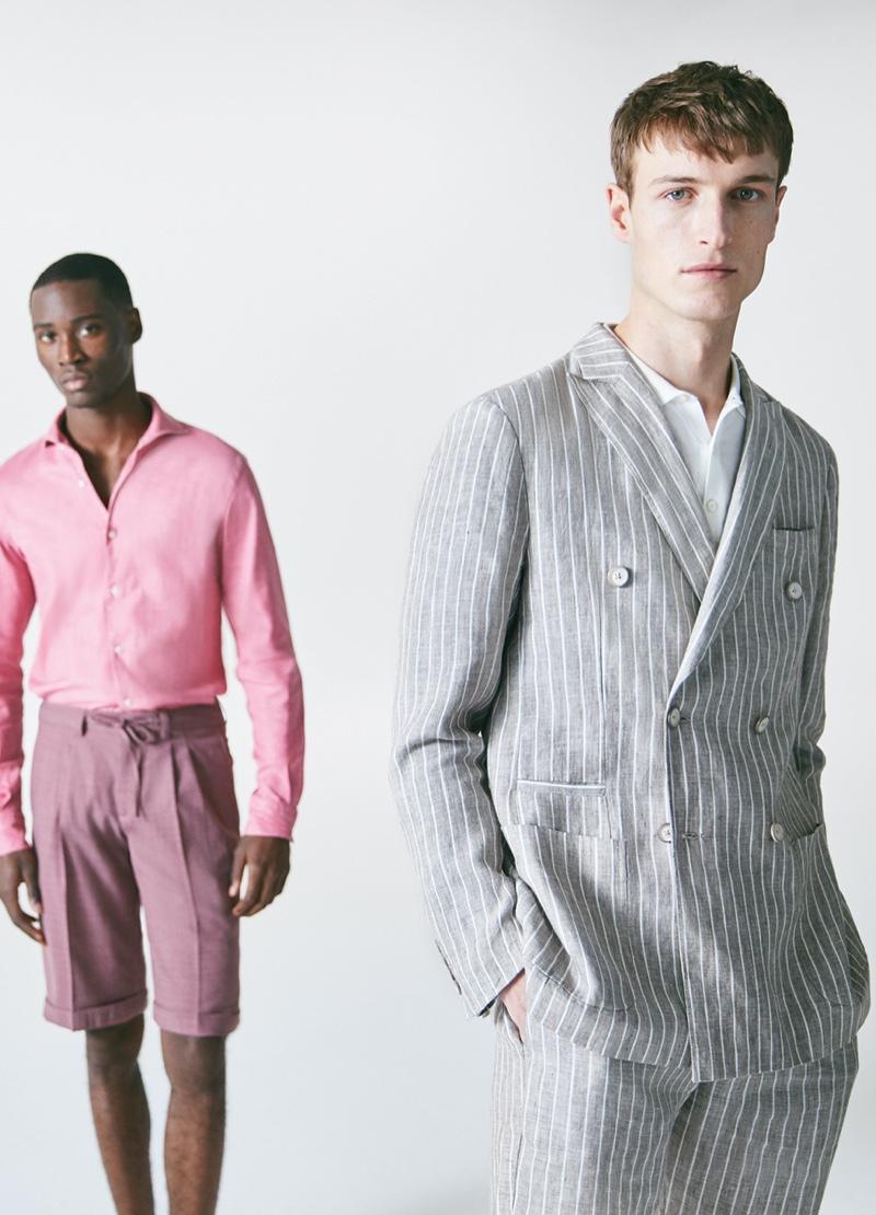 Edge Lheureux and Egon Van Praet appear in Damat Tween's spring-summer 2020 campaign.