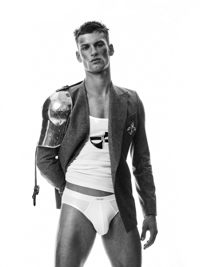 David is a Stylish Knight for L'Officiel Hommes Poland