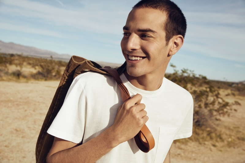 All smiles, David Friend appears in Espirt's EarthColors capsule collection campaign.