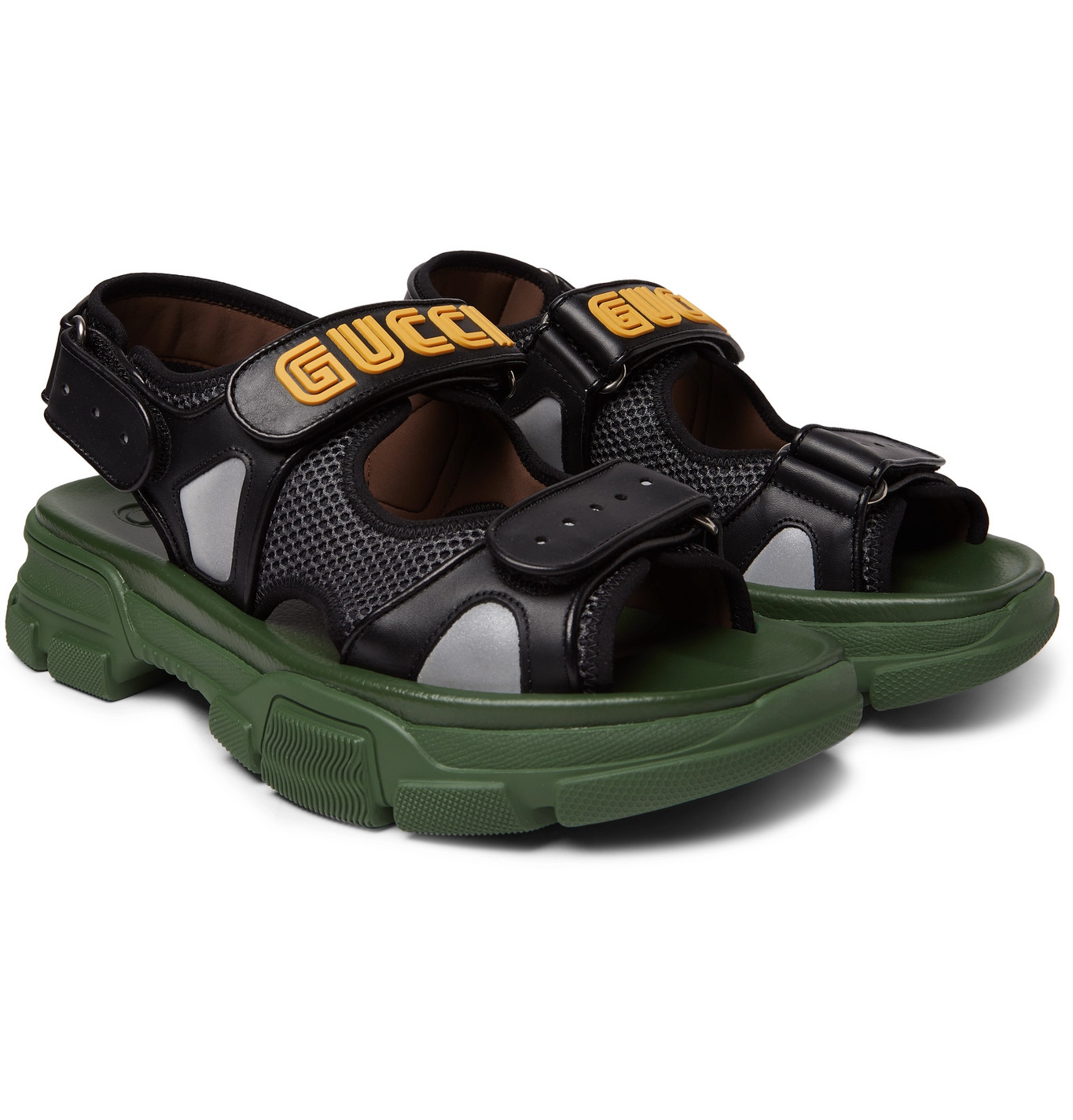 Gucci - Leather and Mesh Sandals - Men