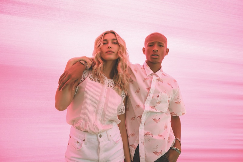 Hailey Baldwin Bieber and Jaden Smith come together for Levi's 2020 festival campaign.