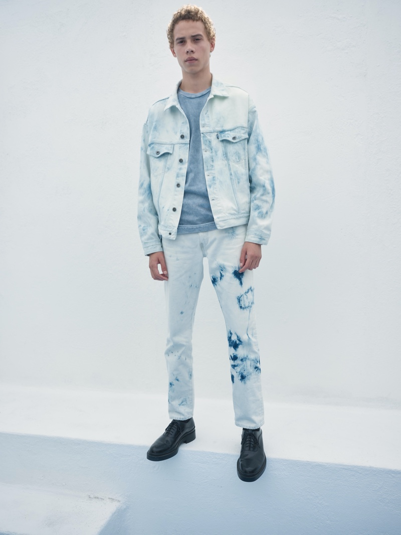 Lye-Amone Cassac sports bleached denim from Levi's Made & Crafted's  spring-summer 2020 collection.