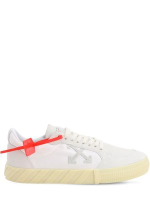 Low Vulcanized Suede & Canvas Sneakers