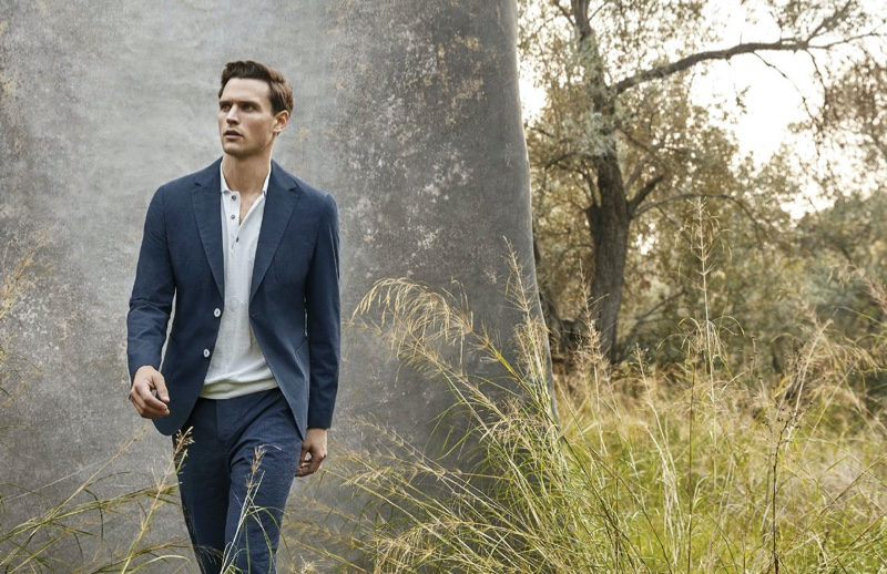 Lufian once again enlists Guy Robinson as the face of its men's collection.