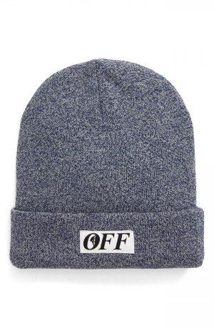 Men's Off-White Equipment Wool Beanie - Blue