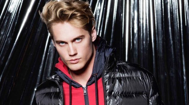 Sporting a Moncler down jacket and sweatshirt, Neels Visser connects with Holt Renfrew for spring-summer 2020.