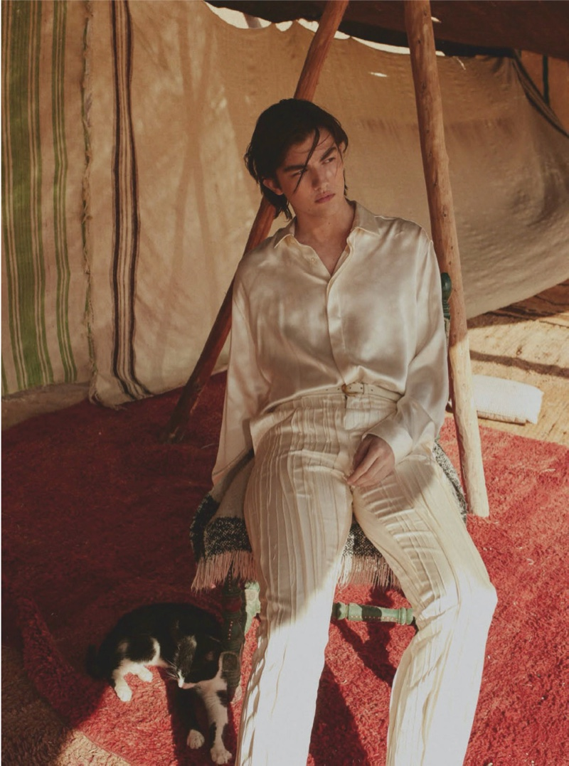 From Malibu to Marrakech: Noé Dons Saint Laurent for GQ México