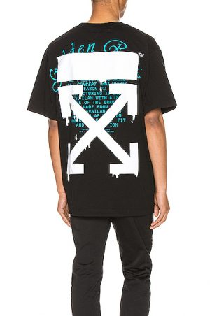 OFF-WHITE Dripping Arrows Over Tee in Black