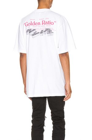 OFF-WHITE Golden Ratio Over Tee in White