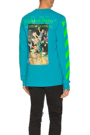 OFF-WHITE Pascal Painting Long Sleeve Tee in Blue