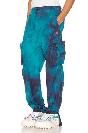 OFF-WHITE Ripstop Cargo Pant in Blue,Ombre & Tie Dye