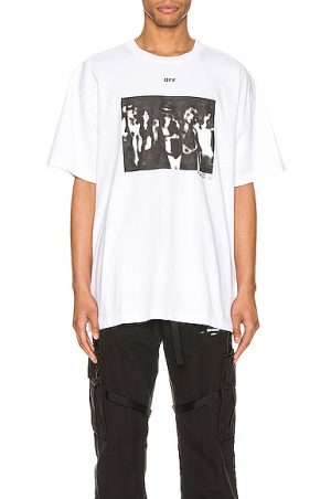 OFF-WHITE Spray Painting Over Tee in White