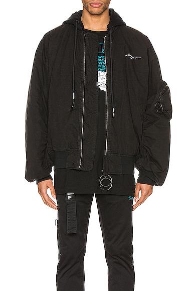 OFF-WHITE Vintage Bomber Jacket in Black