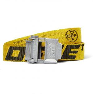 Off-White - 2.5cm Yellow 2.0 Industrial Logo-Jacquard Webbing Belt - Men - Yellow