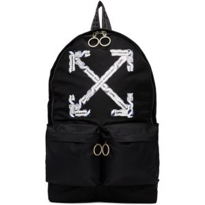 Off-White Black Airport Tape Backpack