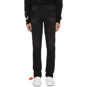 Off-White Black Diag Jeans