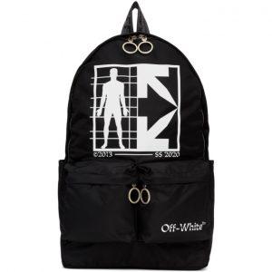 Off-White Black Half Arrows Man Backpack