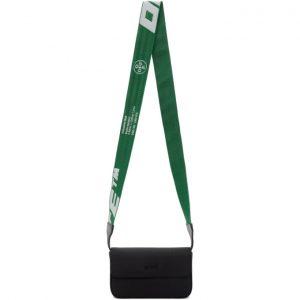 Off-White Black Ripstop Flap Crossbody Bag