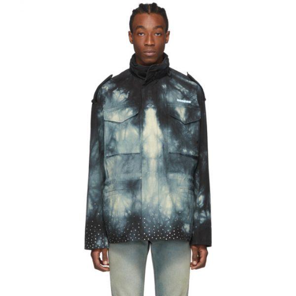 Off-White Black Tie-Dye New Field Jacket