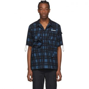 Off-White Blue Check Voyager Short Sleeve Shirt