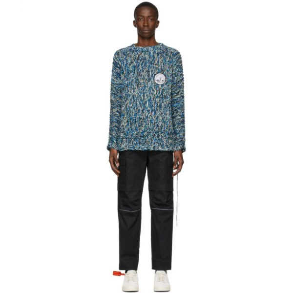 Off-White Blue Climb Rope Sweater