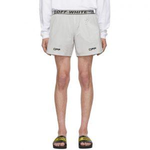 Off-White Grey Lounge Track Shorts
