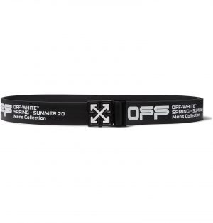 Off-White - Logo-Print Rubber Belt - Men - Black