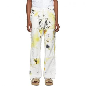 Off-White Multicolor Futura Edition Abstract Carpenter Jeans