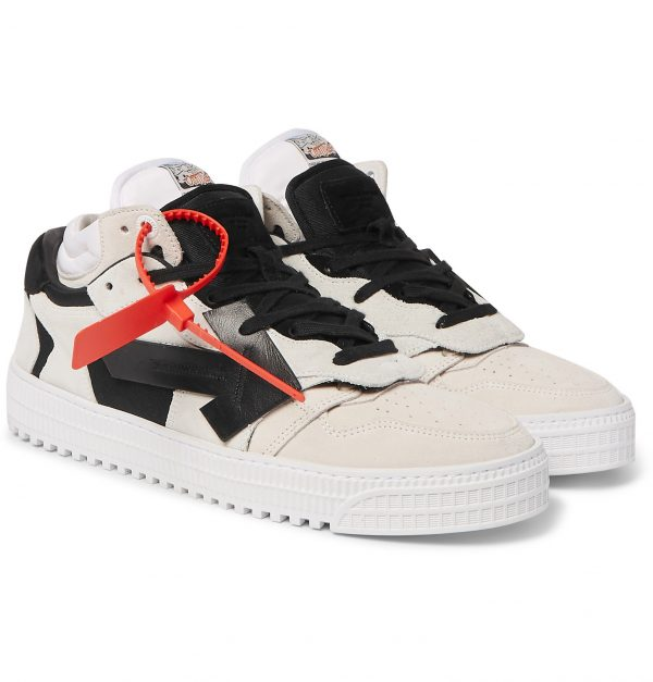 Off-White - Off-Court Suede and Leather Sneakers - Men - White