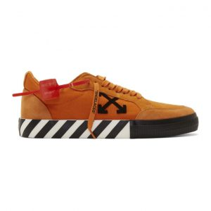 Off-White Orange Low Vulcanized Sneakers