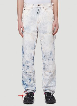 Off-White Patchwork Jeans in Blue size 30